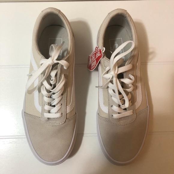 Old Skool Beige Suedecanvas Sneakers